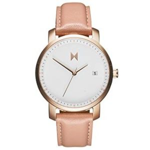 MVMT Signature 38MM Watch -Rose Gold/Peach leather